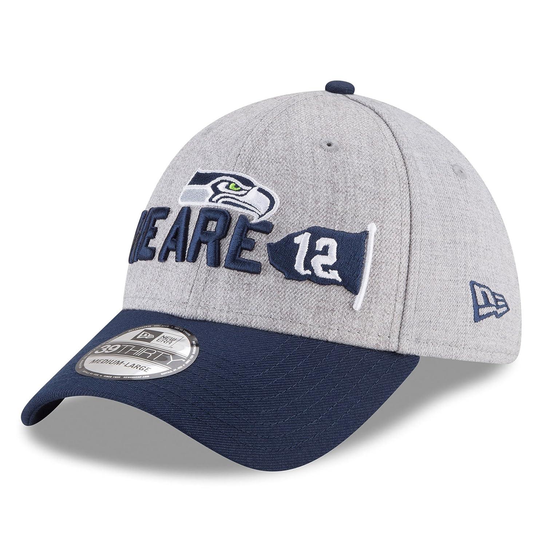 New Era NFL Seattle Seahawks Baseball Hat Cap Football Draft 3930 39Thirty  (L X) Navy at Amazon Men s Clothing store  f13a1a2e2a4