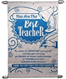 Natali Farewell Gift for Teachers - Best Teacher Scroll Card