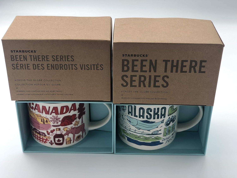 マグ2個セット: アラスカ + カナダ Been There シリーズ (BTS) 14オンス スターバックス マグ B07L8K6LGF