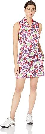 GREG NORMAN Women's Peony S/l Zip Mock Dress