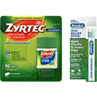 90-Ct Zyrtec Allergy Relief Tablets and Itch Relief Stick Bundle