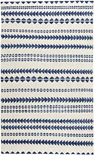 """product image for Capel Scandinavian Stripe Natural Blue 8' 0"""" x 10' 0"""" Rectangle Hand Knotted Rug"""