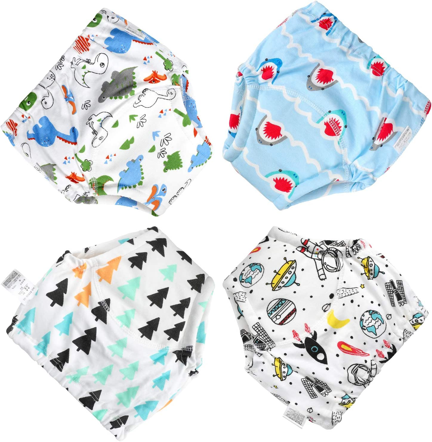 Training Pants Toddler Training Underwear for Baby Boys Girls Cotton Cutensil Pants 2T-4T
