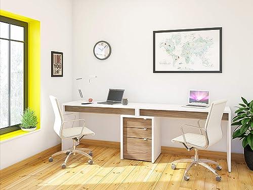 Nexera Liber-T 3 Piece Double Writing Desk Set