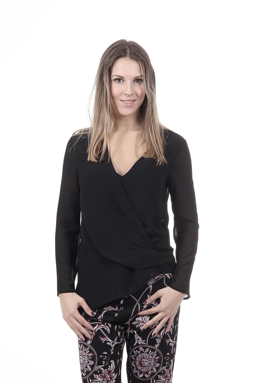 Versace 19.69 Abbigliamento Sportivo Srl Milano Italia Womens Shirt CAMICIA BASILEA TESS. GEORGETTE NERO