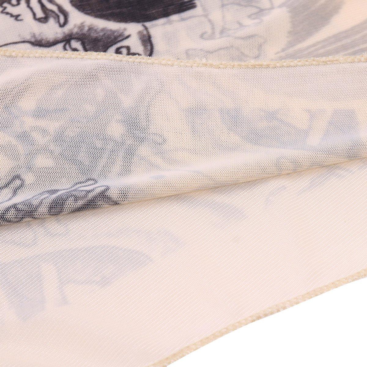 MSemis Camiseta Elástica para Hombre Estampado con Tatuajes ...