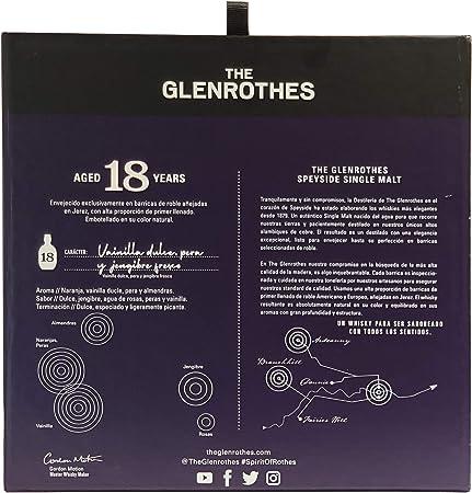 The Glenrothes 18 años Single Malt Scotch Whisky 43% + Pack Regalo 2 Vasos - 700 ml