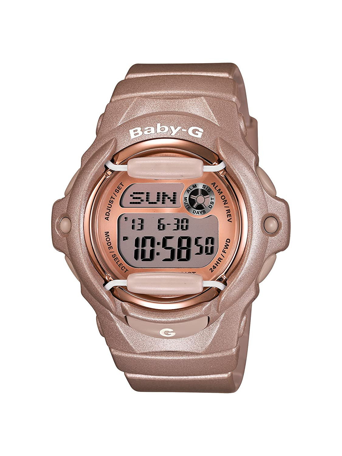 ccc96988f40 Amazon.com  Casio Women s BG169G-4 Baby G Pink Champagne Watch  Casio   Watches