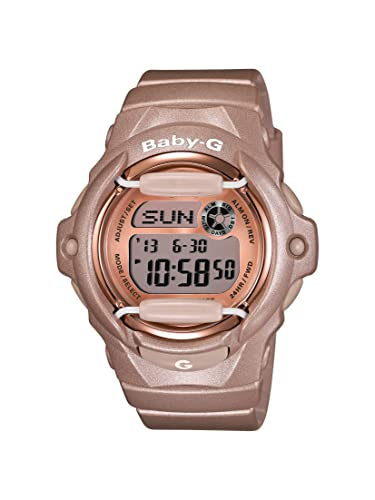 ed1b0d427d97d Amazon.com  Casio Women s BG169G-4 Baby G Pink Champagne Watch ...