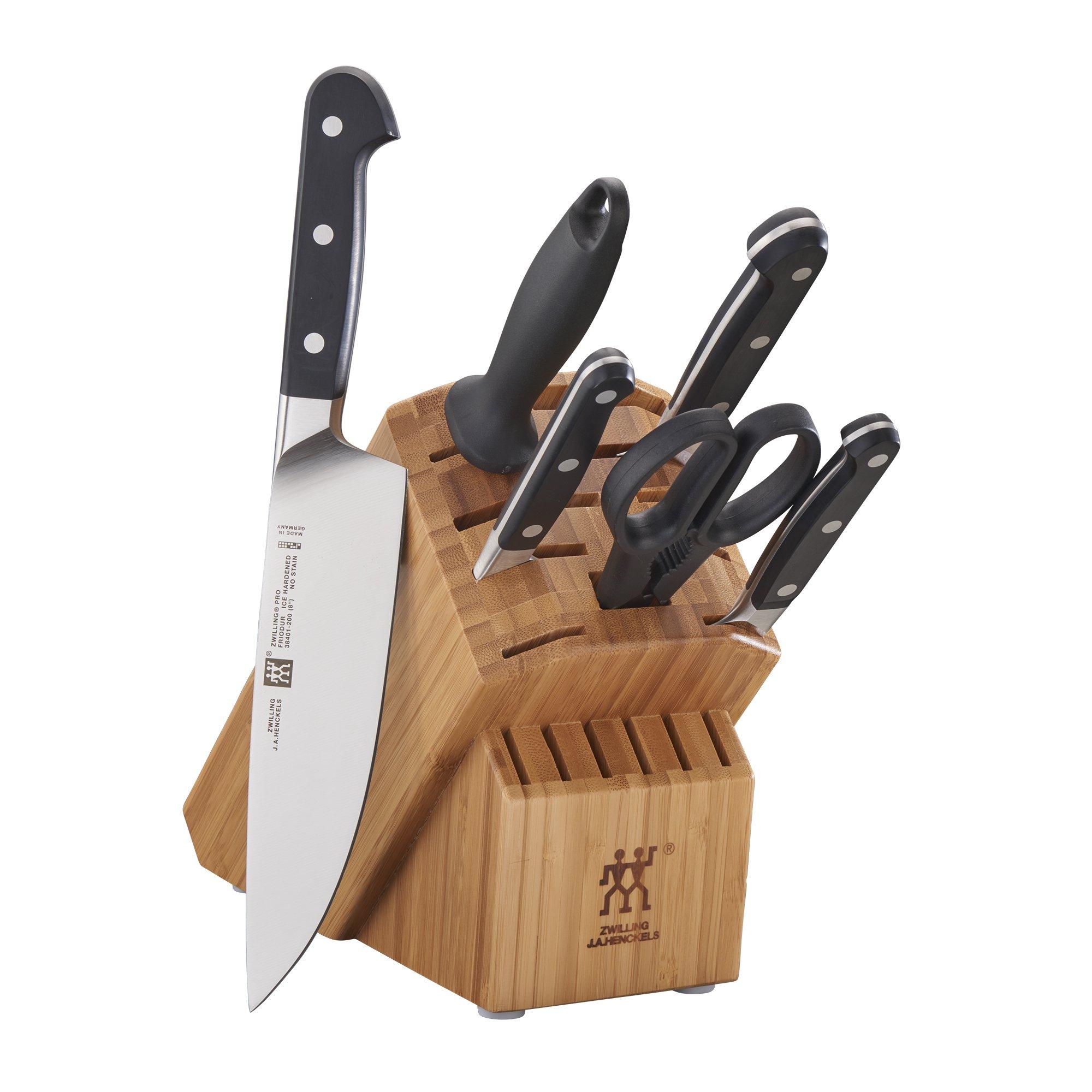 ZWILLING Pro 7-pc Knife Block Set - Bamboo