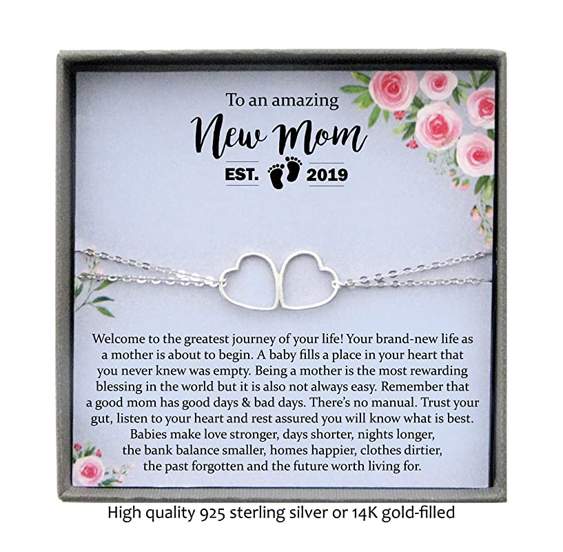 New Mother Gift New Born Birth Stats Bracelet New Mum Gift Personalised Bracelet Baby Announcement Hidden Message New Baby Gift