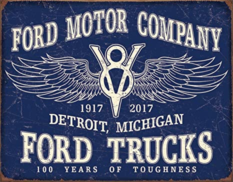 Amazon Com Desperate Enterprises Ford Trucks 100 Years Tin Sign 16 W X 12 5 H Home Kitchen Follow spokes to never miss another show. desperate enterprises ford trucks 100 years tin sign 16 w x 12 5 h