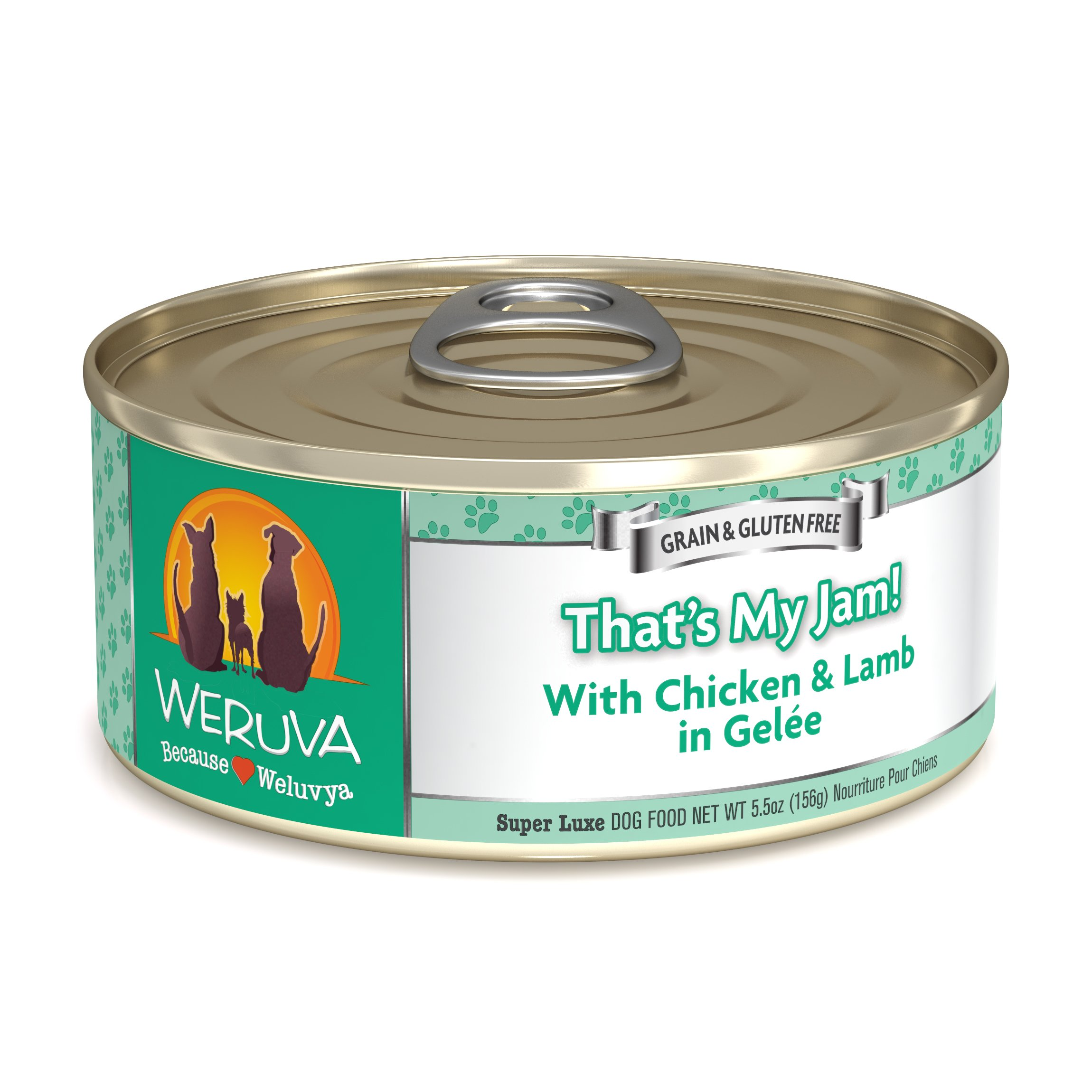 Weruva Classic Dog Food, That's My Jam! with Chicken & Lamb in Gelée, 5.5oz Can (Pack of 24)