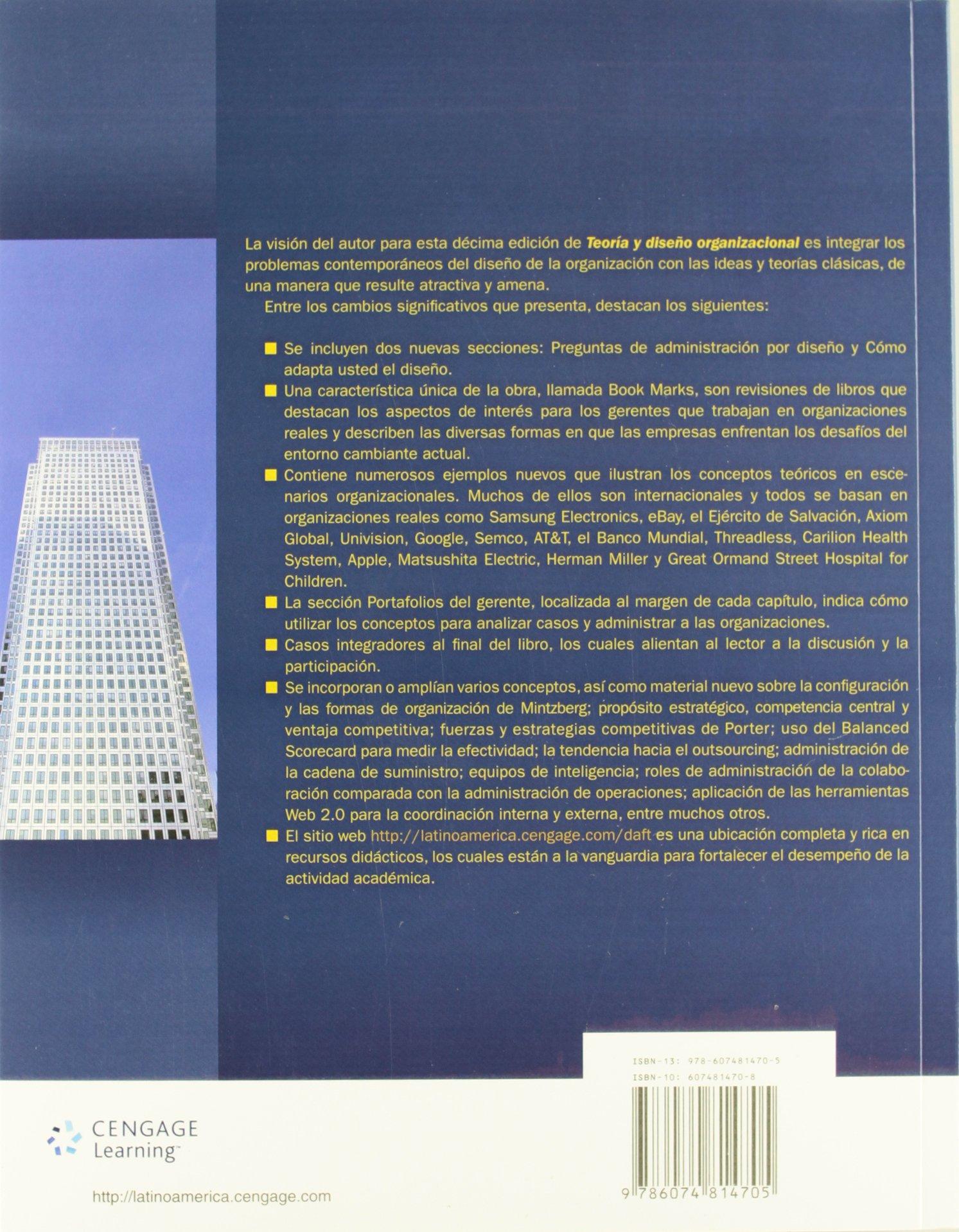Teoria y diseno organizacional amazon richard l daft libros fandeluxe Image collections