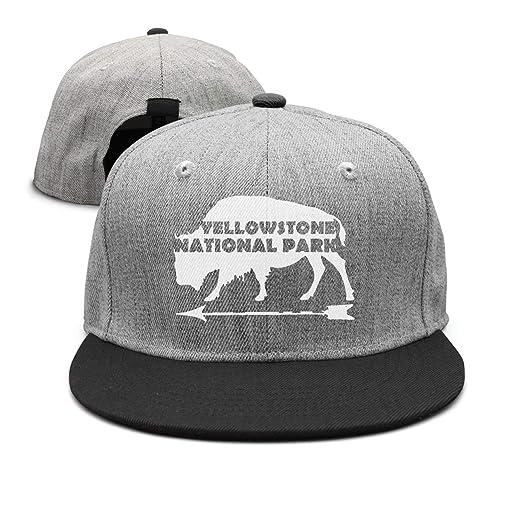 d89e64da Websi Wihey Yellowstone National Park Old Faithful Flat-Brim Baseball Caps  Snapback Unisex Adjustable Hat