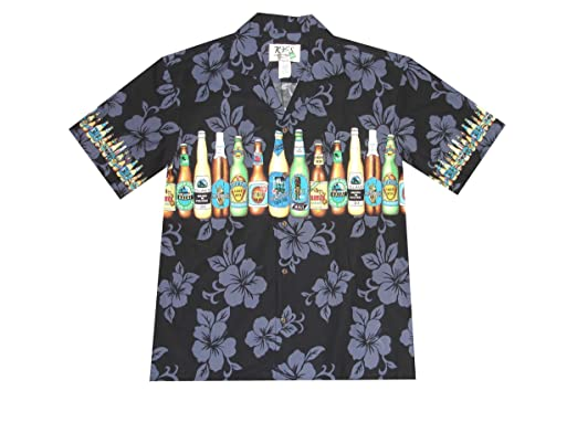 45256d0e2 KYS Men Tropical Hawaiian Aloha Shirt Cruise Luau Beach Party Tan Brew Beer  Bottles at Amazon Men's Clothing store: