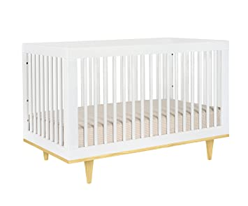 Exceptionnel Baby Mod Marley 3 In 1 Convertible Crib, White And Natural