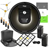 iRobot Roomba 980 Robotic Vacuum Cleaner with Wi-Fi Connectivity + Manufacturer's Warranty + Extra Sidebrush and Extra Filter Bundle
