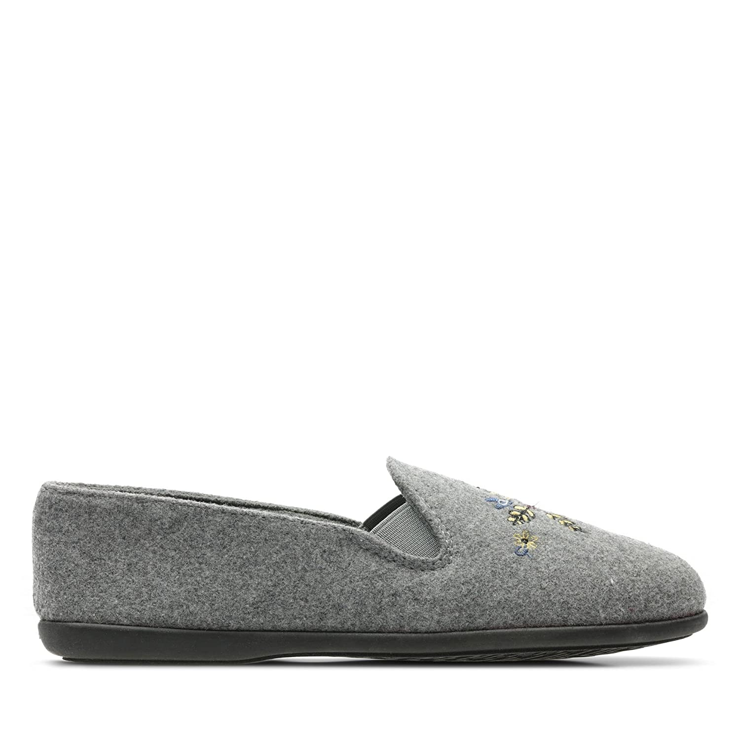 38a562a8e99 Clarks Marsha Star Textile Slippers in Grey  Amazon.co.uk  Shoes   Bags