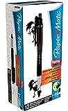 Papermate Eraser max, Black, 12 - Bolígrafo (Black, 12, Negro) paquete de 12 unidades