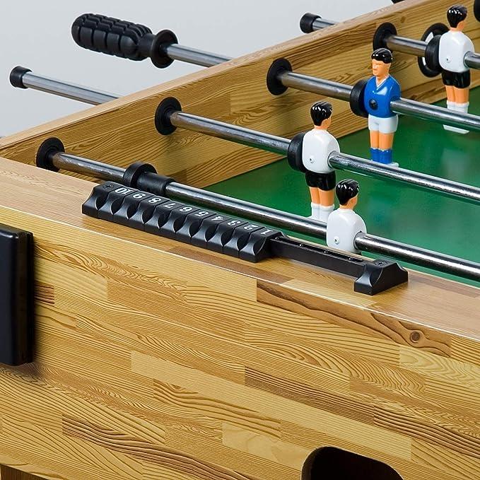 Maxstore Futbolín de Mesa Glasgow con Juego de Accesorios, 2 portavasos, pies Regulables en Altura, Campos de Juego Perfectamente levantados, Patada de Mesa, Kicker, futbolín: Amazon.es: Juguetes y juegos
