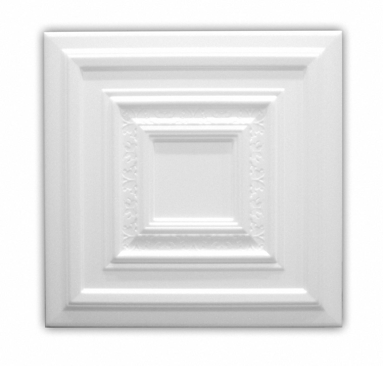 paquete de 104 pc // 26 metros cuadrados Azulejos de techo de espuma de poliestireno 08120 Blanco