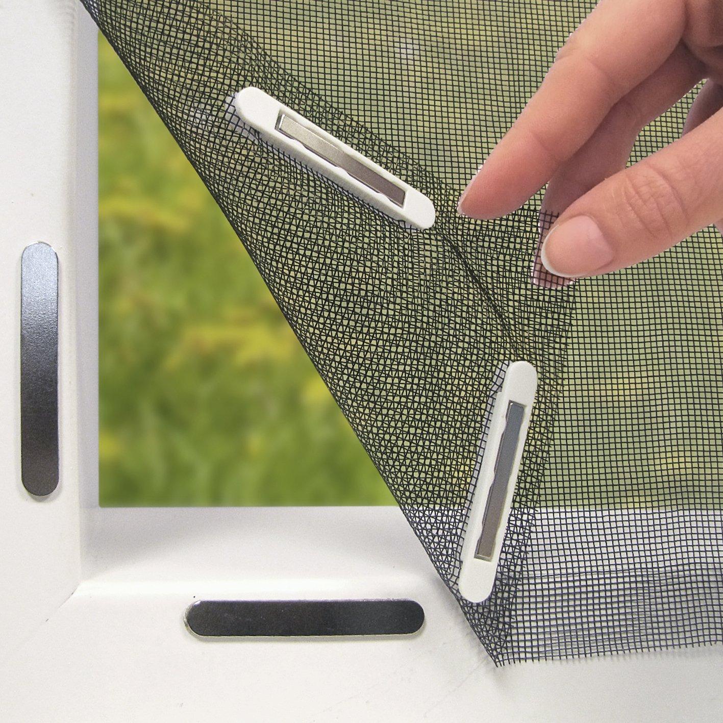 Relativ EASYmaxx Fenster-Moskitonetz mit Magnetbefestigung 150 x 130cm RL27