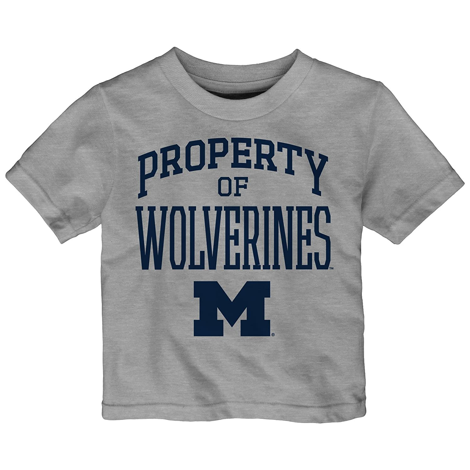 3T Heather Grey Outerstuff NCAA Michigan Wolverines Toddler Team Property Short Sleeve Tee