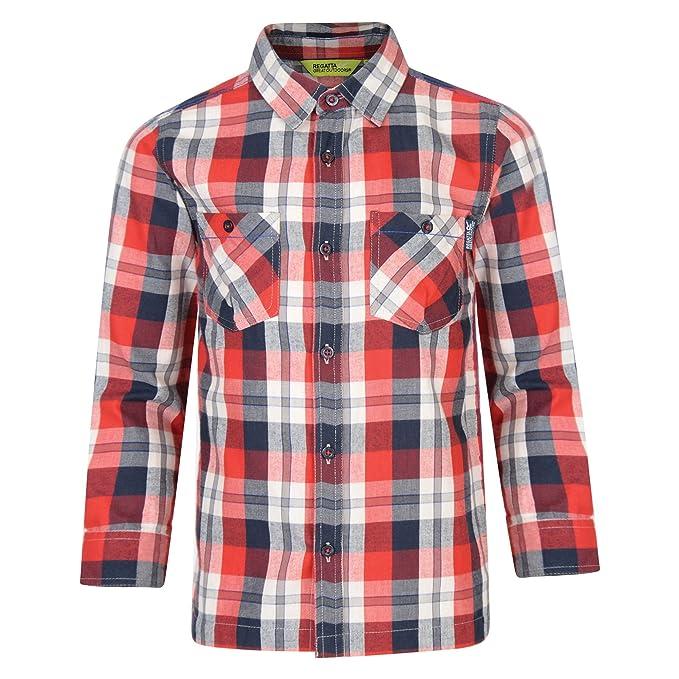 1c21aef71 Regatta - Camisa de Manga Larga Modelo Noster para niños (9-10 Años ...