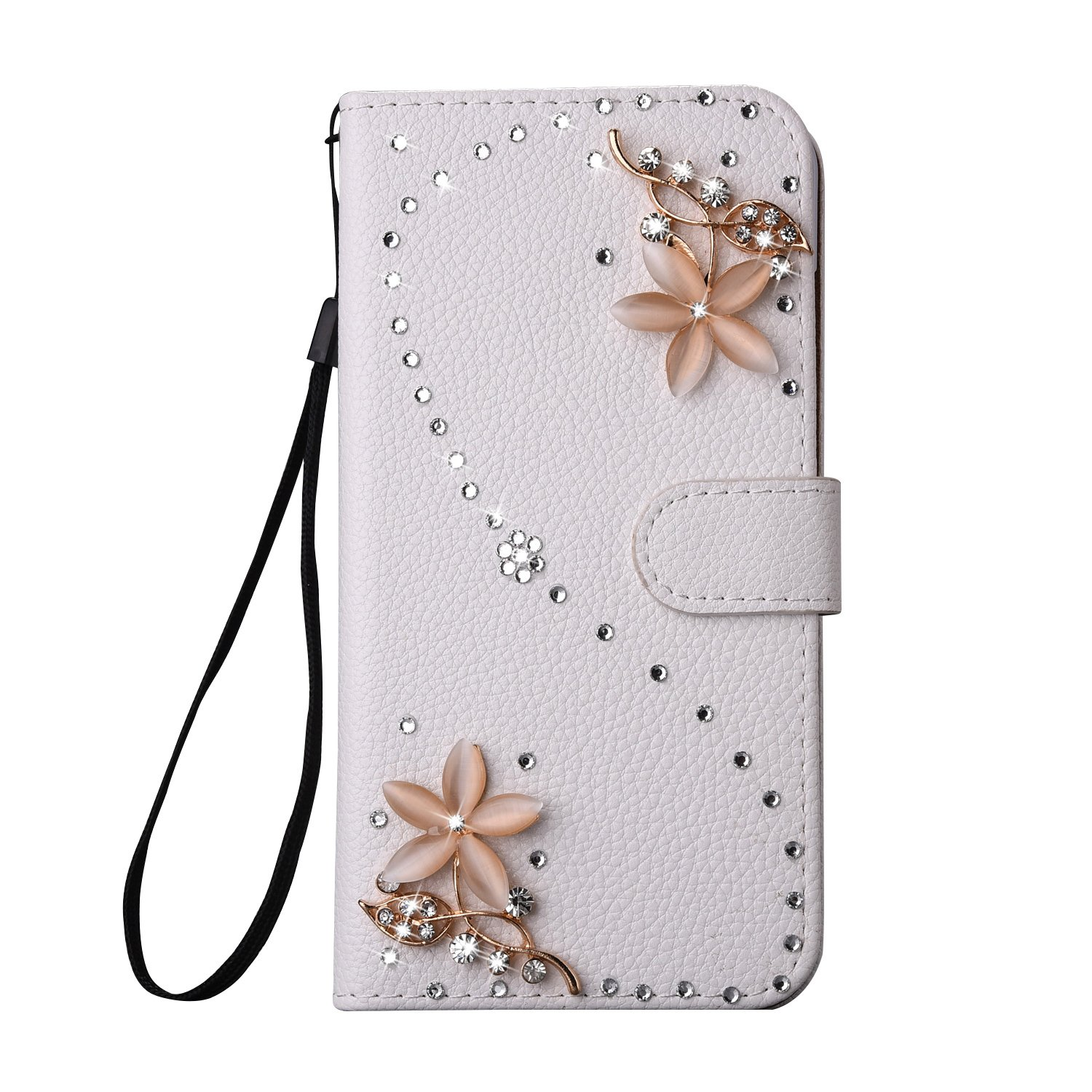 For Samsung Galaxy S8 Case, CrazyLemon Glitter Bling Diamonds PU Leather Wallet Flip Open Pocket ID Credit Card Holders/Cash Slots/Wristlet Protective Case Cover for Samsung Galaxy S8 - Mirror S8-YaY-ZuanPT-JingZi