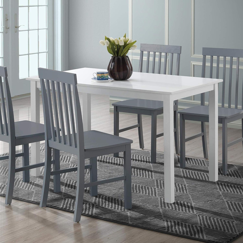 """WE Furniture Dining set, 48"""", Gray"""