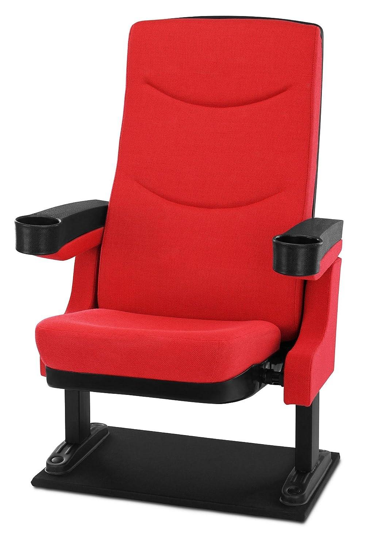 Stagecaptain CS-600R Movieking Kinosessel (Relaxsessel, (Relaxsessel, (Relaxsessel, klappbarer Sitz, 2 x Armlehne mit Getränkehalter, Bodenplatte) rot 81a92e