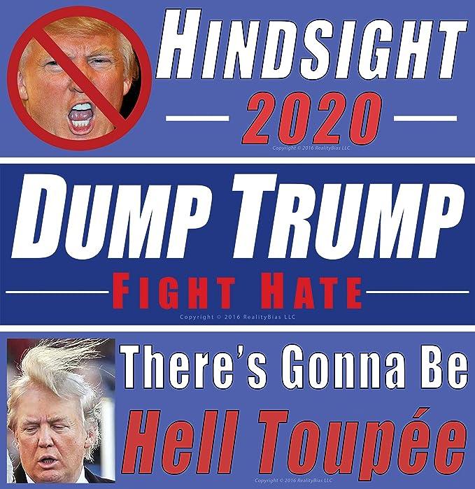 Anti Trump Bumper Sticker Decal 5 Pack DND Trump Making America Hate Again