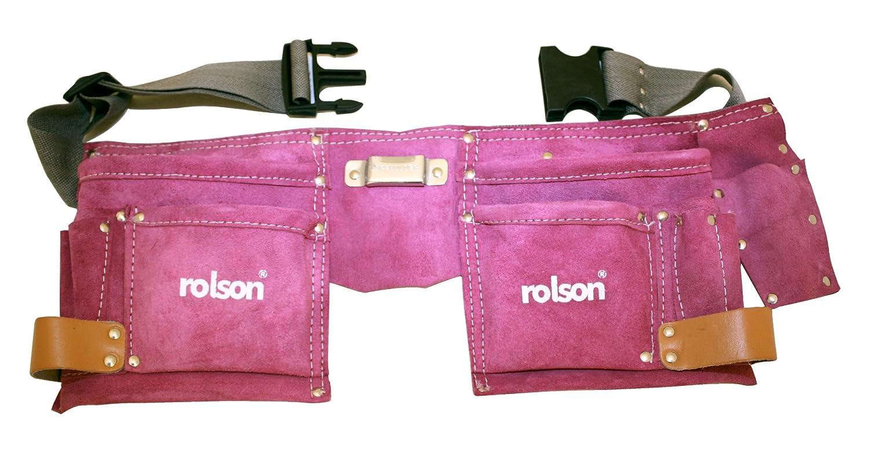 Rolson 68630 Double porte-outils en cuir Rose