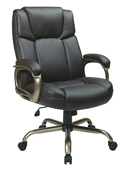 Office Star Executive Big Manu0027s Chair With Eco Leather Seat And Back,  Espresso