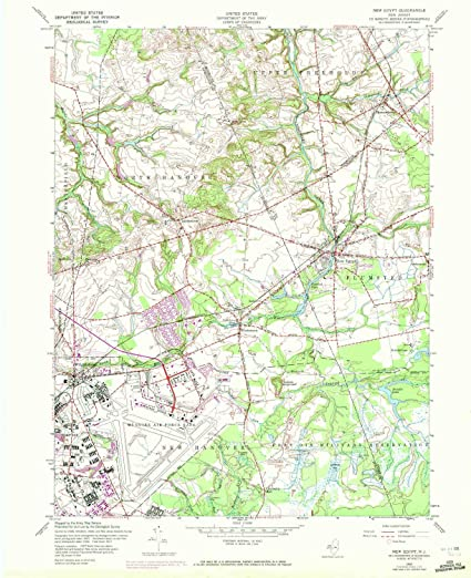 Amazon.com : YellowMaps New Egypt NJ topo map, 1:24000 Scale ... on