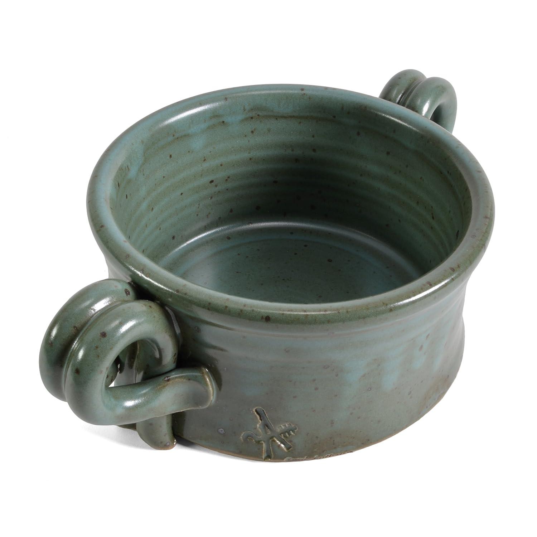Anthony Stoneware Handled Soup Crock French Blue