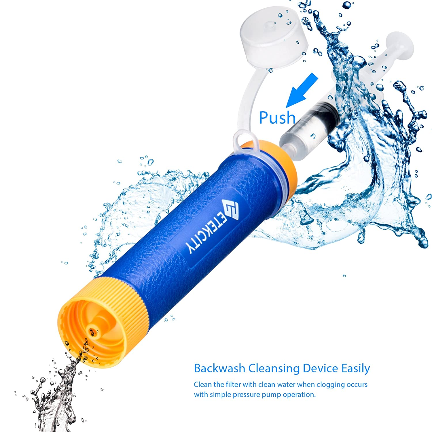 Water Filter Supplies Etekcity Portable 1500l Emergency Camping Water Filter 3 Stage