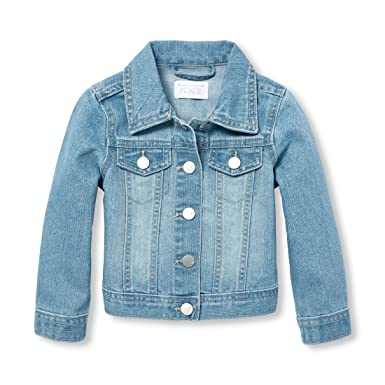 Amazon.com  The Children s Place Baby Girls Novelty Denim Jacket ... 84d0516b5
