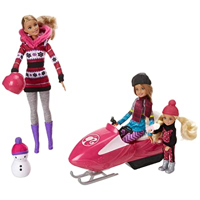 Barbie FDR73 Sisters Snow Fun Doll Giftset, Multicolor: Toys & Games
