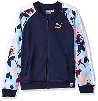 7c293713a9b5 Amazon.com  PUMA Big Girls  Fleece Track Jacket  Clothing