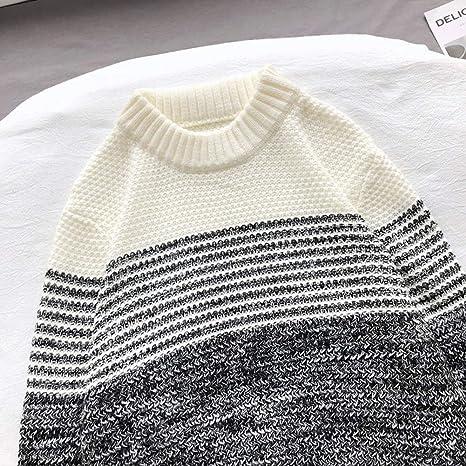 DJJCN Maglione Invernale Uomo Warm Fashion Contrasto Colore
