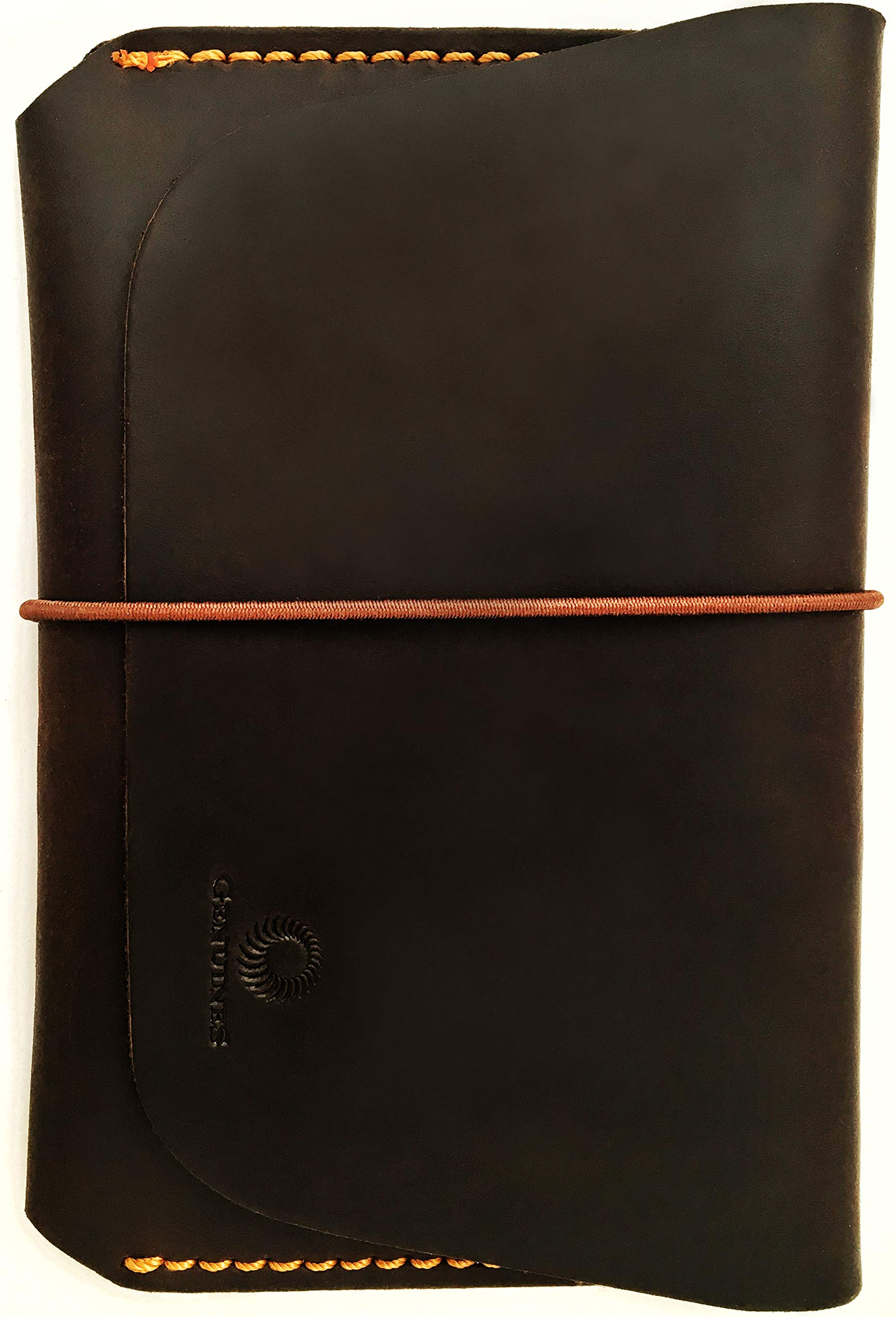 Leather Passport Holder for Men & Women - Genuines Wallet Case for 1 or 2 Passports (Vintage brown) by Genuines