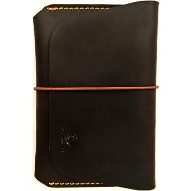 Leather Passport Holder for Men & Women - Genuines Wallet Case for 1 or 2 Passports (Vintage brown)