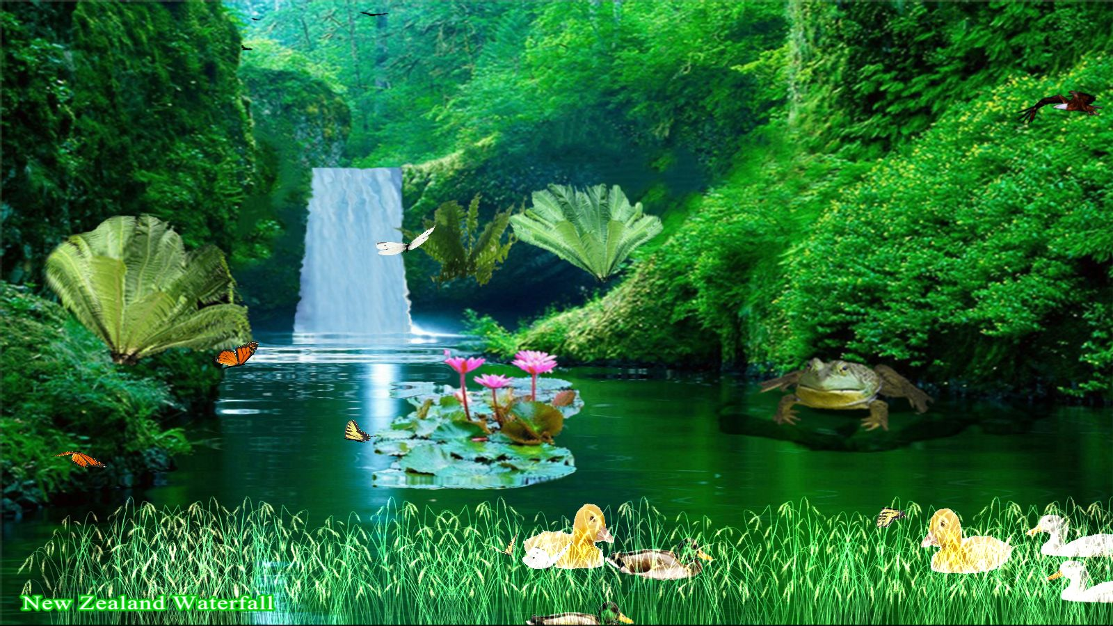 - New Zealand Waterfall Screen Saver [Download]