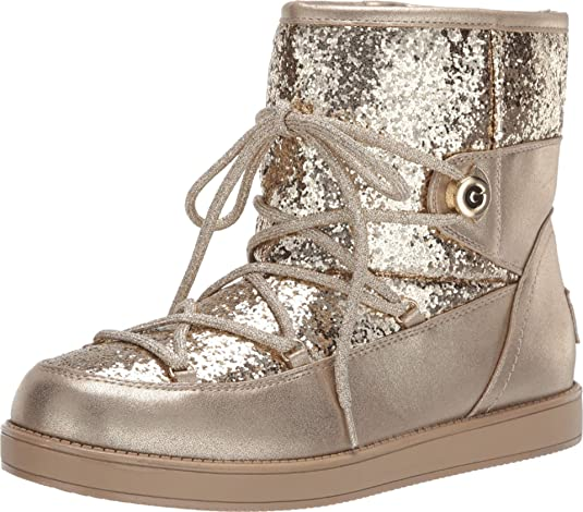 GBG Los Angeles Womens Aylan Glitter Fashion Ankle Boots Flats BHFO 1047
