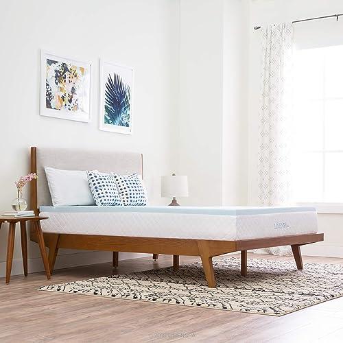 Gel memory foam mattress topper full size