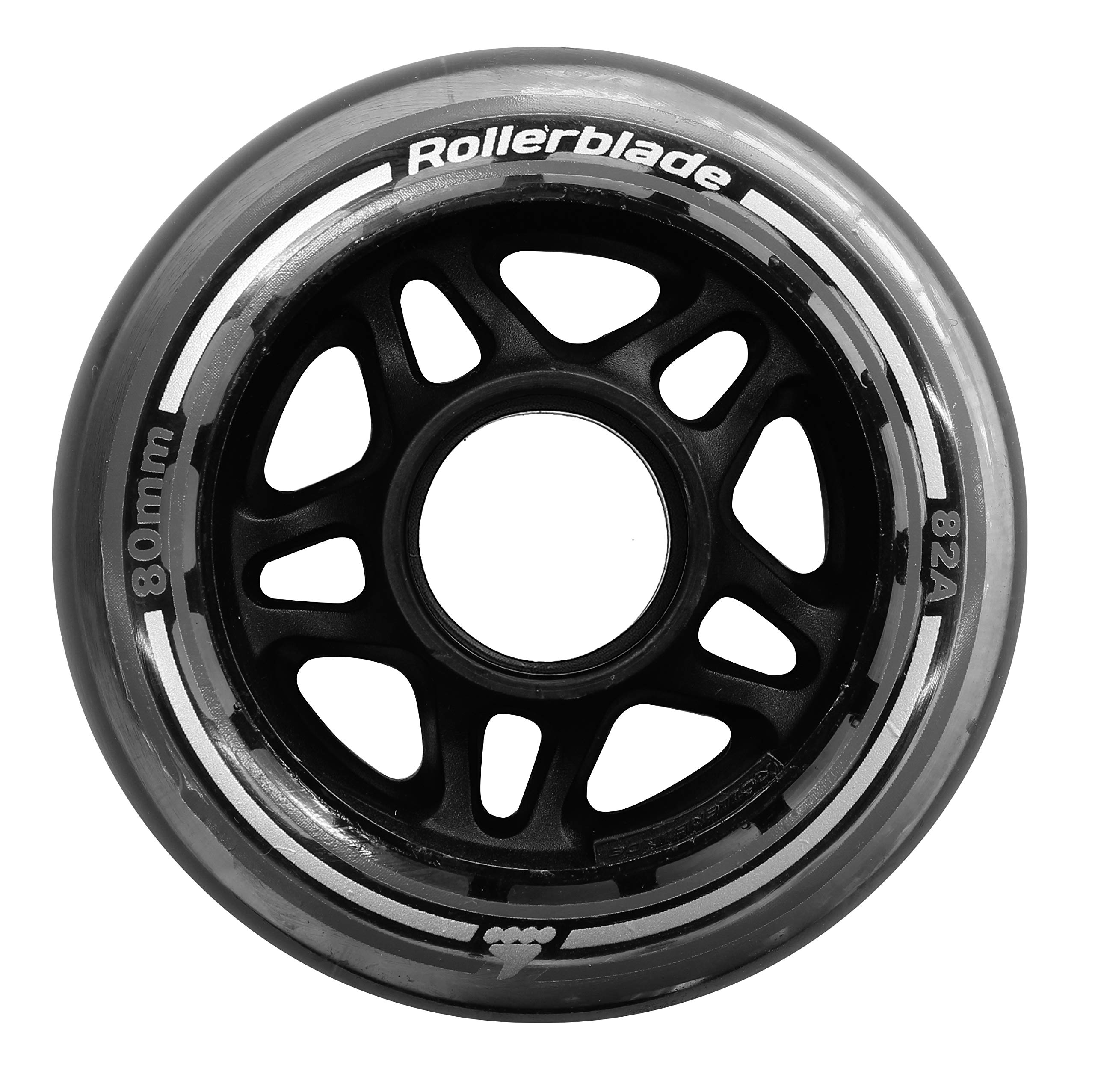 Rollerblade 80mm 82A Wheels, 8 Pack, Clear, US Unisex ST by Rollerblade