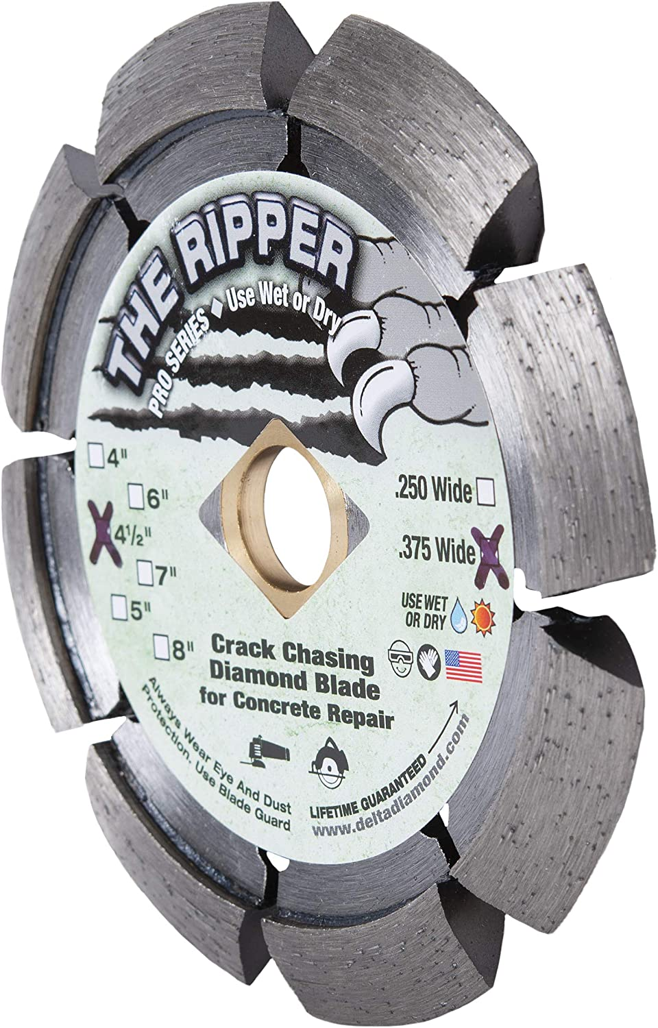 Ripper Pro Series Crack Chaser Diamond Blade 4-1/2-Inch by .375