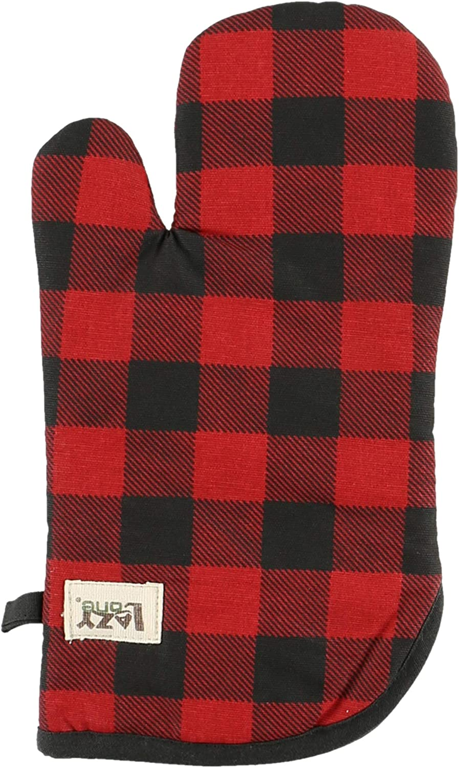 Moose Plaid Durable Canvas Cottons Oven Mits by LazyOne | Cabin, Home and Kitchen Animal Gifts (ONE Size)